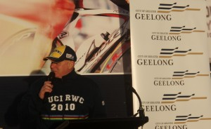 Mayor John Mitchell at Belmont Criterium Track opening
