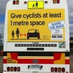 Bike Safe sign on McHarry's bus