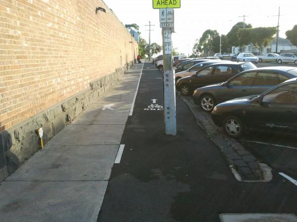 Geelong bike lane fail